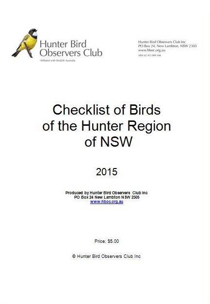 2015 Hunter checklist